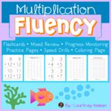 Multiplication Fluency Reinforcement Activities {Under the Sea}