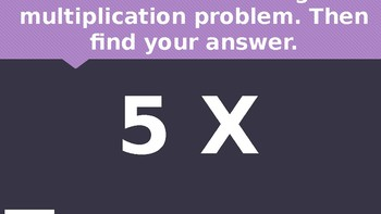 Multiplication Fluency Review Game
