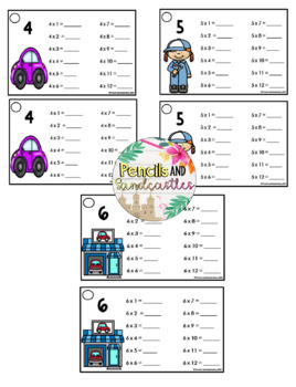 Multiplication Fluency Rings- Assorted Themes