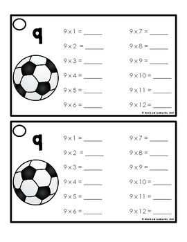 Multiplication Fluency Rings- Sports Theme