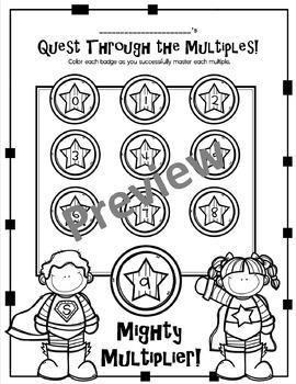 Multiplication Fluency Tests (Spiral)