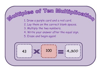 Multiplication Fluency Station