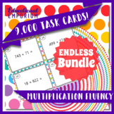Multiplication Fluency Task Cards ENDLESS Bundle Multiplication Practice