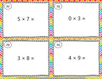 Multiplication Fluency Task Cards ENDLESS Bundle Multiplication Practice