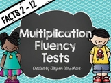 Multiplication Fluency Tests