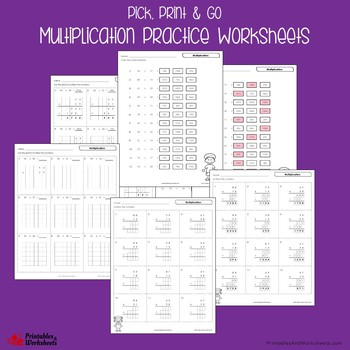 Multiplication Fluency Worksheets