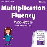 Morning Work Multiplication Fluency Worksheets