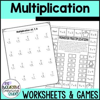 multiplication fluency worksheets factors  by kdgteacherabc