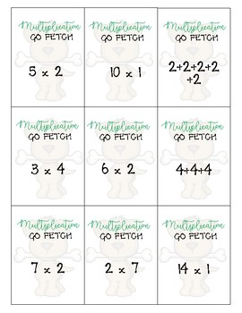 Multiplication Fluency and Mental Math Game- Go Fetch