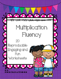 Multiplication Fluency and Practice Reproducible Worksheets ~ Print it and Go!