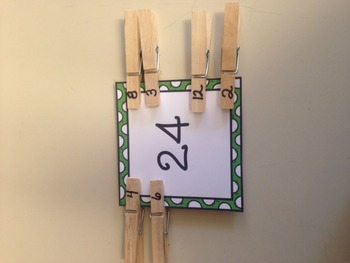 Multiplication Fluency with clothes pins!