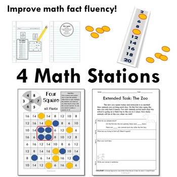 Multiply by 2 - Math Workshop Kit