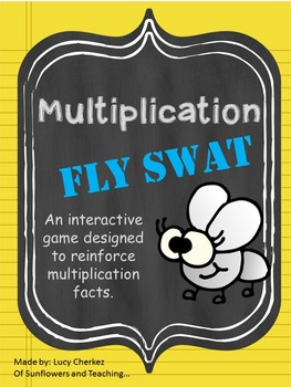 Multiplication Fly Swat Interactive Game - Whole Class or Center activity!