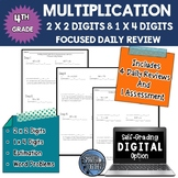 Multiplication of Multi-Digit Numbers - Focused Daily Review -  4th Grade