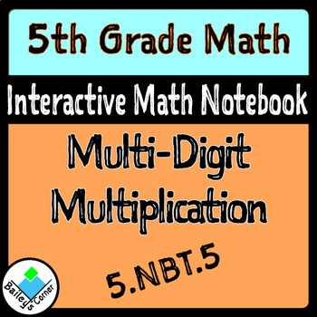 Multiplication Foldable for Interactive Math Notebook