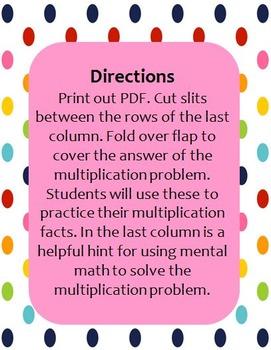 Multiplication Foldables