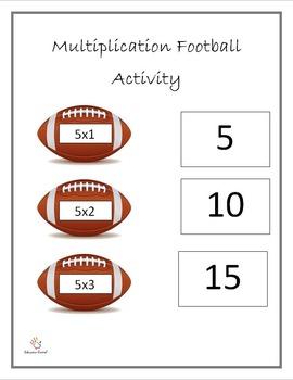 Multiplication Football Activity
