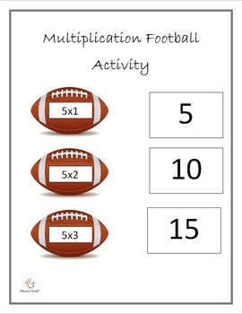 Multiplication Football Activity