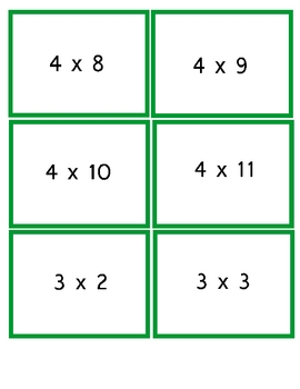 Multiplication Football Game-Center Activity