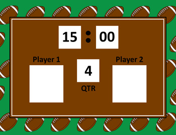 Multiplication  Football Game with Self Checking QR Codes