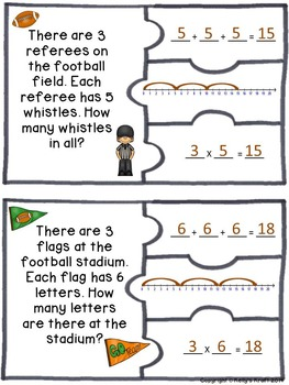 Multiplication Football Puzzles