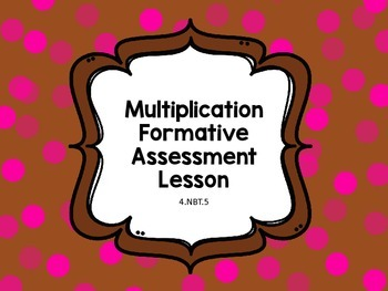 Multiplication Formative Assessment Sorting Cards