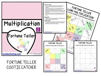 Multiplication (Fortune Teller/Cootie Catcher)