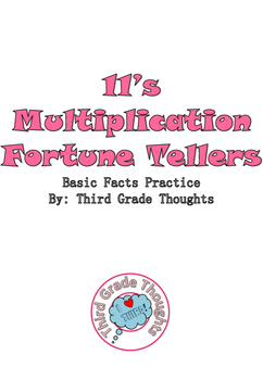 Multiplication Fortune Tellers 11's - Basic Facts Practice