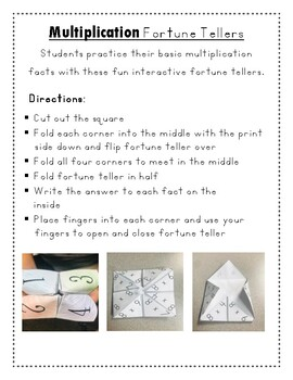 Multiplication Fortune Tellers