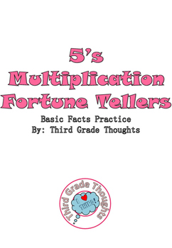 Multiplication Fortune Tellers 5's - Basic Facts Practice