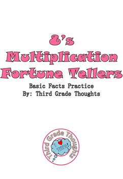 Multiplication Fortune Tellers 8's - Basic Facts Practice