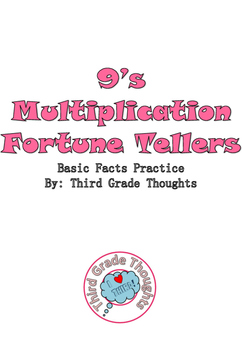 Multiplication Fortune Tellers 9's - Basic Facts Practice