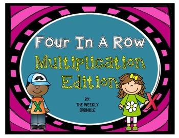 Multiplication Four In A Row Math Edition