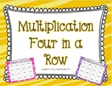 Multiplication Four in a Row Facts 2-12