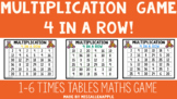 Multiplication Four in a Row Maths Game - Print and Go! Maths Center!