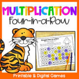 Multiplication Four-in-a-Row: Printable Math Games for Mul