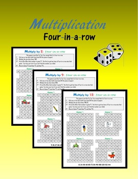 Multiplication:  Four-in-a-row