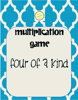 Multiplication Four of a Kind Card Game