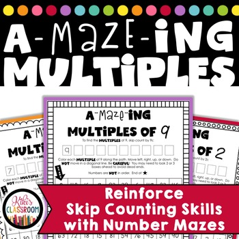 Multiplication Mazes - Multiplication FREE - Practice with Multiples
