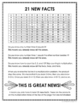 Multiplication Facts Memorization FREE