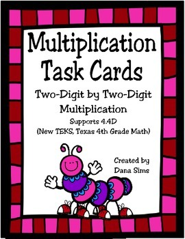 Multiplication Freebie: 2-Digit by 2-Digit