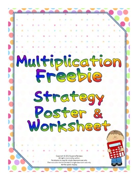 Multiplication Freebie - Strategy Poster & Worksheet