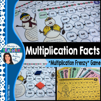 Multiplication Frenzy - Multiplication Facts Game