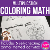 Multiplication Friends Coloring Sheets