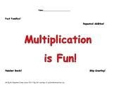 Multiplication Reinforce: Fact Families, Number Bonds, Arr