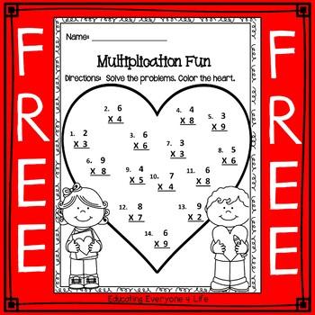 Multiplication Free Worksheet