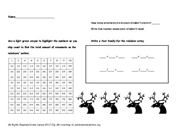 Multiplication Packet sampler Fact Families, Skip Counting, Repeated Addition