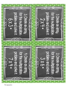Multiplication Fun Task Cards