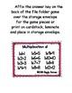 Multiplication Fun Number Bonds Full Set of 12 Envelope Centers