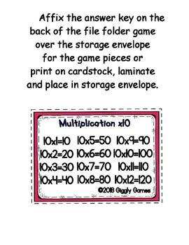 Multiplication Fun x10 Number Bonds Envelope Center